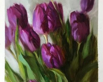 Purple Tulips oil painting