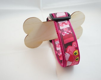 Dog collar collar Pink Panther 33-50 cm