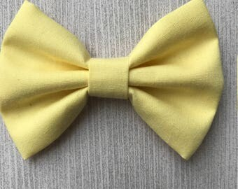Classic Yellow Bow - Bow or Bowtie - Nylon Headband - Alligator Clip - Spring Hair Accessories
