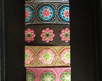 Zinnia ribbon barettes set of 5