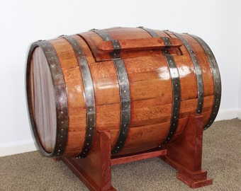 Whiskey Barrel Chest or Trunk in Sedona Red