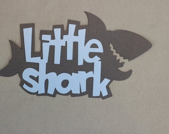 Little shark title die cut for scrapbooking and card making.