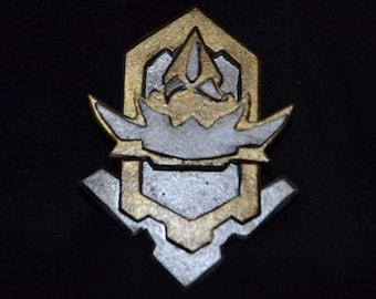 Hand made Star Trek Klingon cosplay badge