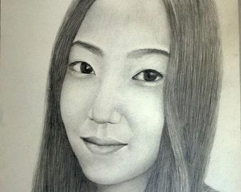 Custom Pencil Portrait for Birthday