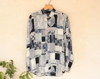 Vintage Pattern Long Sleeved Shirt