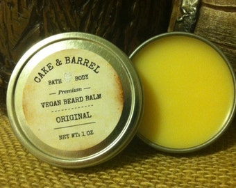 Vegan Beard Balm. Choice of Scents. 1oz Tin.