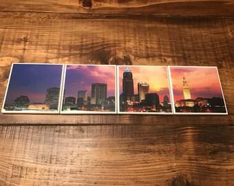 Cleveland Skyline Sunset Coasters