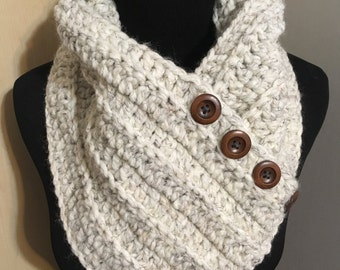 Wrap Scarf with Buttons