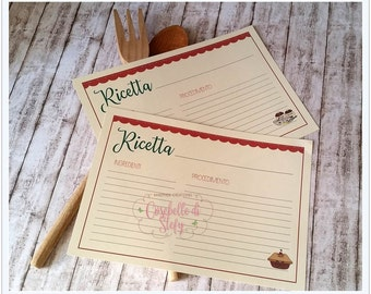 RECIPE CARDS for cookbook - Printable cards - Instant dowload