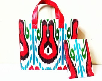 Colourful ikat bag