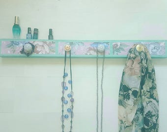 Jewellery organiser shelf, organizer shelf, blue shelf