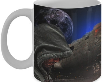 Sci Fi Mug (11 oz)\ Mugs With Images by Vitazi Designs, Ceramic Coffee Mug - Starfighter Image, Science Fiction Mugs, Sci Fi Gift, Geek Gift