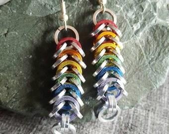 Rainbow chainmale earing