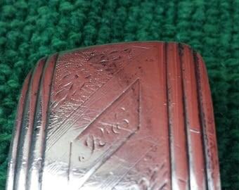 Vintage Marsh sterling silver belt buckle