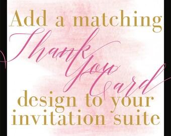 Add a Design/Thank You Card/Coordinating Design/DIY Printing/Budget Conscious Brides