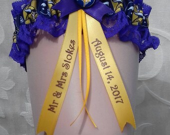 Minnesota Vikings Personalised Wedding Garter