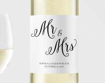 Wedding wine bottle label printable, Wine Label Template, Instant download wine label , DIY wine label, Wine label printable, Editable PDF