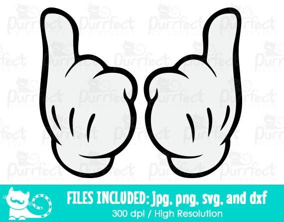 Mickey Mouse Para Imprimir De Manos Manos De Mickey Para: Mickey Y Minnie Manos Apuntando A SVG SVG De Las Manos Con