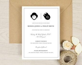 Star Wars wedding invitation, Wedding Invitation, Custom Wedding invitation, Printed Wedding invitation,  Personalized Wedding invitation