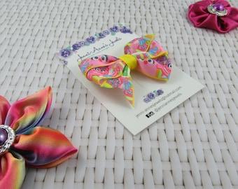 Pinwheel Hair Bow Clip - Abby Cadabby