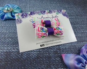 Bow Tie Hair Clip - Set of 2 - Lil/Big Sis
