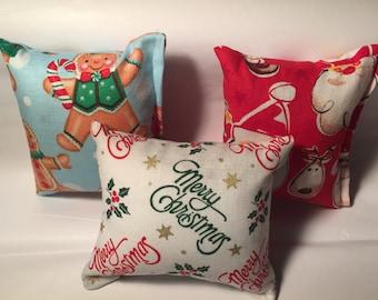 """3 - 3"""" x 3"""" catnip pillows"""