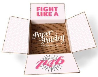 Care Package Sticker Kit - Fight Like a Girl/Chemo Care Package/Military Care Package/Deployment/Missionary Care Package/Cancer Care Package