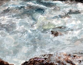 Turbulent Water Print
