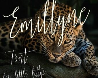Emillyne Font - Digital Fonts - Downloadable Handwritten font – Script font - Wedding font – Font Download – Instant Download - Script Font