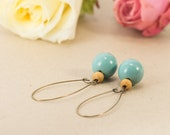 Vintage earrings made from wooden beads