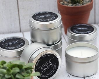 Scented Soy Wax Candle Travel Tins