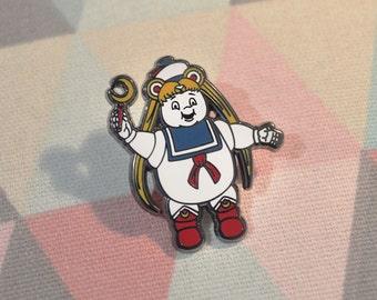 Enamel Pin Sailor Moon Marshmallow Man