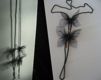Women butterfly. Necklace-pendant female butterfly.