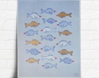 Soya Sauce Fish Risograph