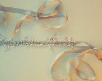 Handmade Bridal Sequin Sash, Bespoke Design Bridal Accessories
