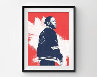 Kendrick Lamar Art - Digital Print - Poster Print - Music Poster - Minimalist Art