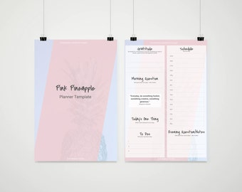 Pre-Made Printable Planner Template | Clean Minimalist | Customizable | Google Docs / Windows Word DOCX / Mac Pages / A4 / Letter Available