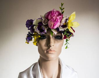 Mixed Summer Flower Headdress