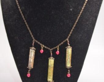 Vintage Paper Bead Necklace