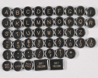 Typewriter Key Flat Back Vintage Antique 1948 Royal Arrow Your Choice ref007