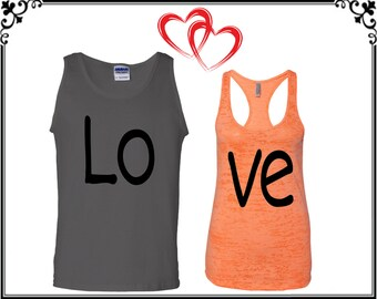Couple Tank Top Couple Tank Couple Tops Love Matching Couple Tank Love Tank Love Tank Tops Love Tops Love Soul Mate Gift For Couple