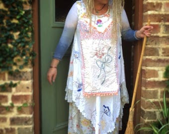 Daisy Meadow Upcycled Vintage Linens upcycled reclaimed repurposed Dress