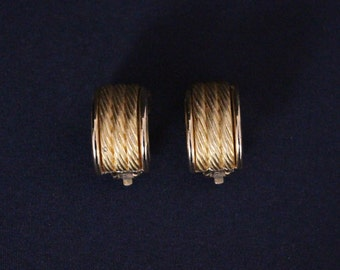 Givenchy Gold Tone Clip earrings Vintage 80 's * free shipping *