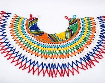 Multicolor beaded collar.