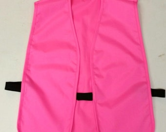 Blaze pink hunting vest - hook and loop closure, open stretch sides