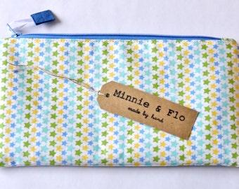 Handmade Zipped Pencil Case, Fabric Pouch