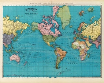 Digital old world map hight printable - download. Vintage World Map. Large world map Digital. PRINTABLE map.High resolution world map