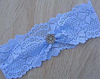 Blue Wedding Garter, Lace Garter, Wedding Garter Set, Blue Bridal Garter, Light Blue Garter, Garter Set, Handmade Garter, Wedding Accessorie