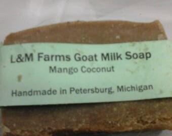Mango coconut goat milk soap
