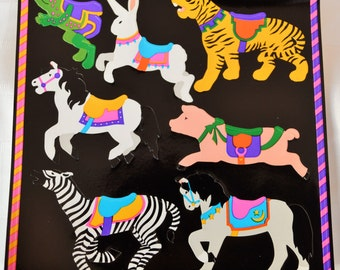 "Vintage Mrs. Grossman's ""Carousel Animals"" sticker.  (1990)"